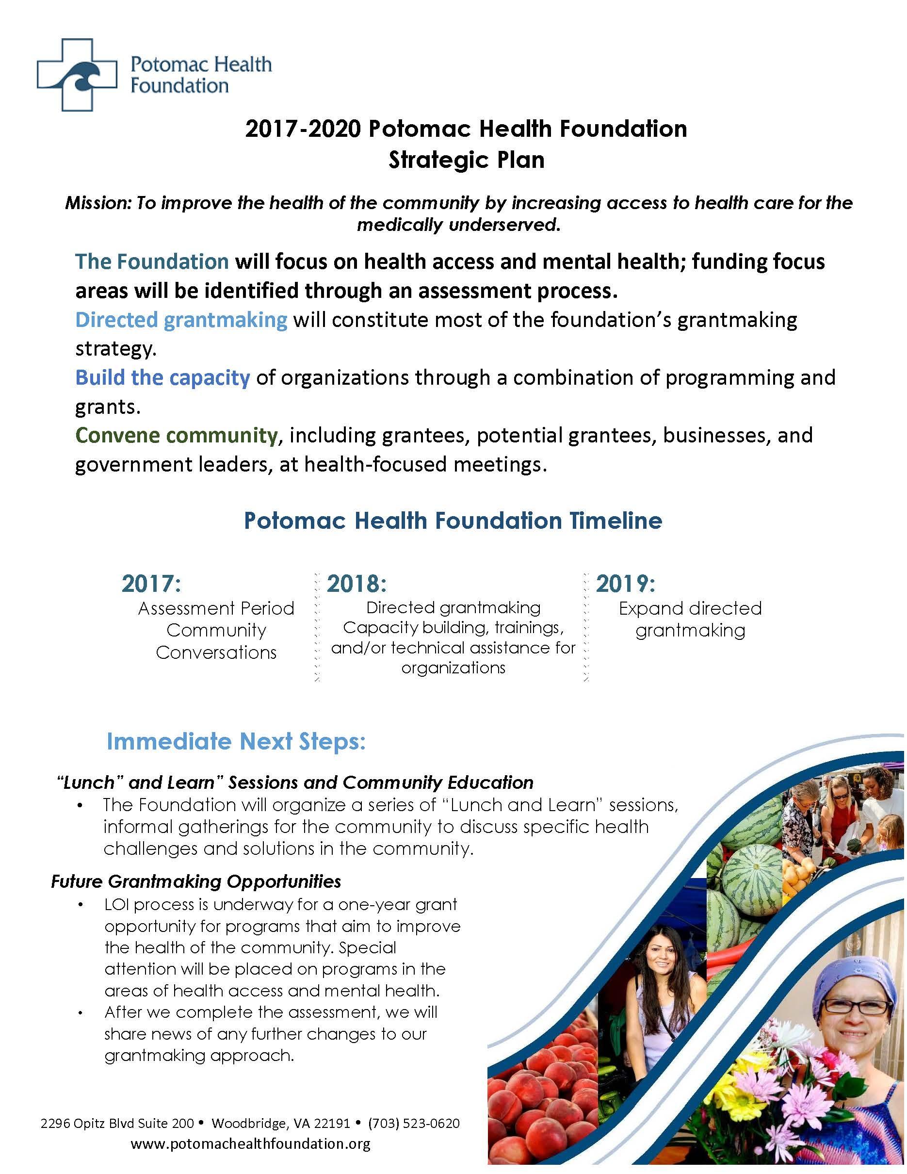 PHF Strategic Planning Quick Sheet